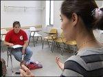 Mirsharifi teaching at UW-Madison; photo WKOW