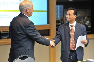 Dean Gilles Bousquet and Dr. Abdul Kahn